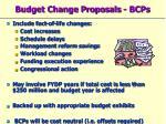 budget change proposals bcps