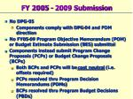 fy 2005 2009 submission