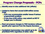 program change proposals pcps
