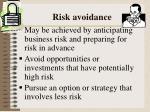 risk avoidance