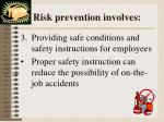 risk prevention involves2