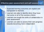 effective peer assessment and self assessment1