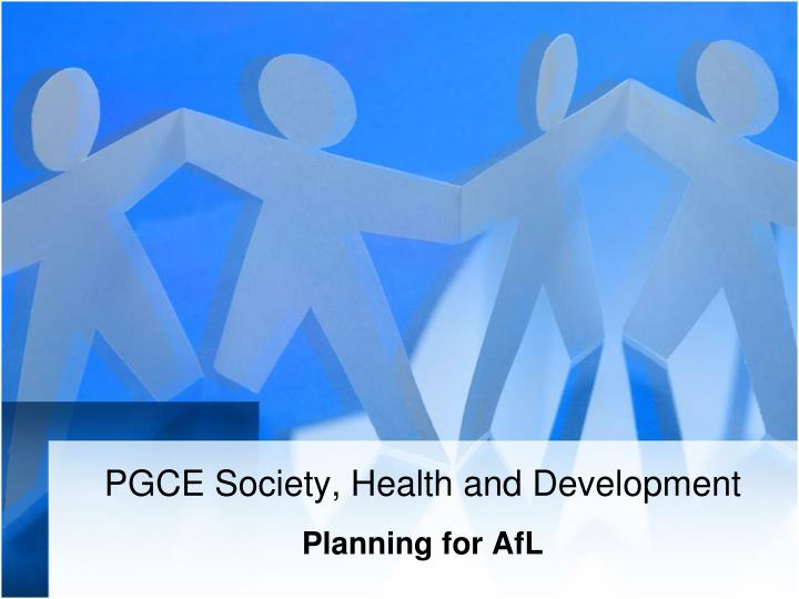 pgce society health and development n.