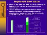 improved site value