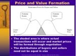 price and value formation