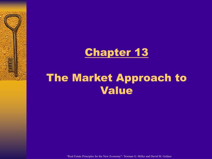 chapter 13 the market approach to value n.