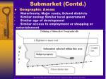 submarket contd