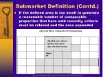 submarket definition contd