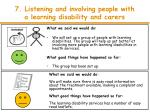 7 listening and involving people with a learning disability and carers