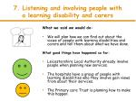 7 listening and involving people with a learning disability and carers1