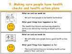 9 making sure people have health checks and health action plans1