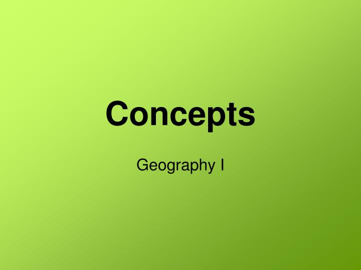 concepts n.
