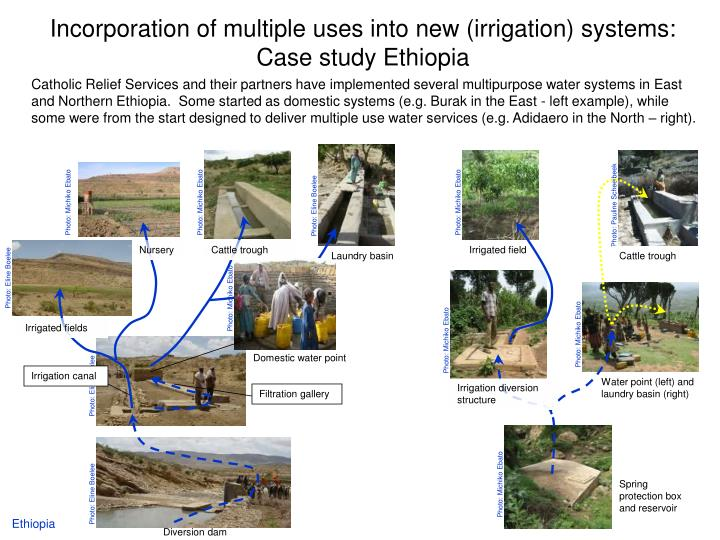 incorporation of multiple uses into new irrigation systems case study ethiopia n.
