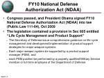 fy10 national defense authorization act ndaa