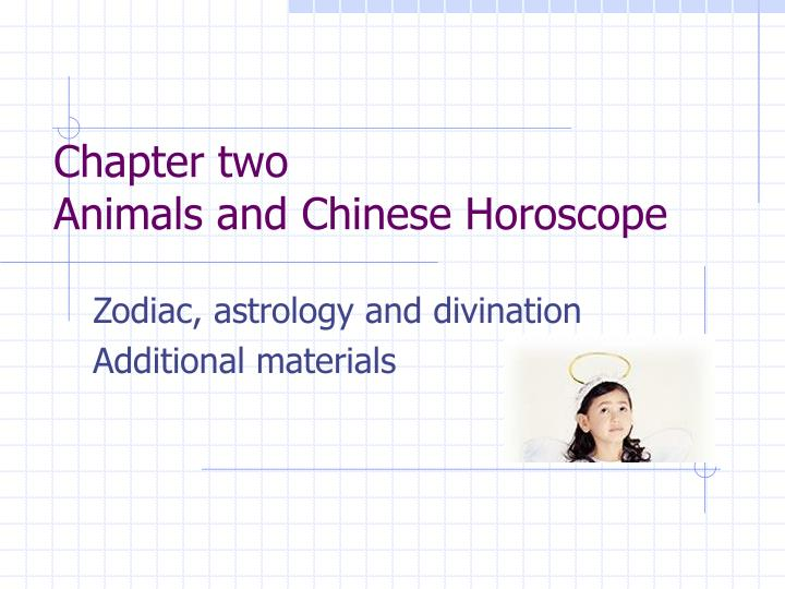 chapter two animals and chinese horoscope n.