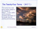 the twenty four terms 24
