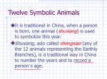 twelve symbolic animals