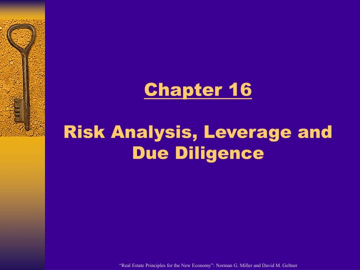 chapter 16 risk analysis leverage and due diligence n.