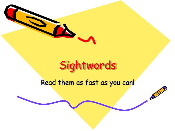 sightwords n.
