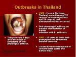 outbreaks in thailand