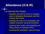 attendance o m