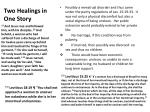 two healings in one story1