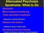 attenuated psychosis syndrome what to do