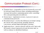 communication protocol cont