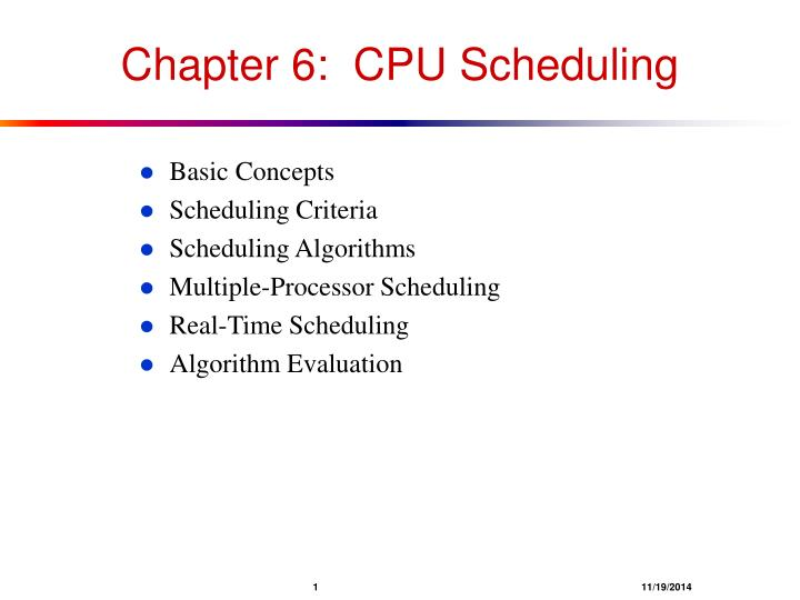 chapter 6 cpu scheduling n.