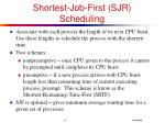 shortest job first sjr scheduling