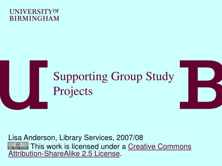 supporting group study projects n.