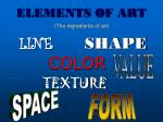 elements of art1