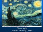 starry night vincent van gogh 1889