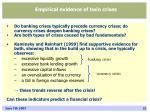 empirical evidence of twin crises