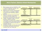 micro factors balance sheet mismatches
