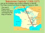 babylonian captivity 1309 1377