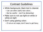 contrast guidelines