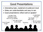 good presentations