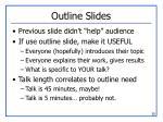 outline slides