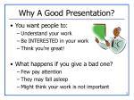 why a good presentation