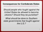 consequences for confederate states