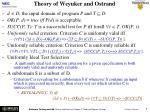 theory of weyuker and ostrand