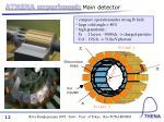 athena experiment main detector