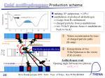 cold antihydrogen production scheme