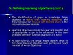 5 defining learning objectives cont