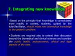 7 integrating new knowledge
