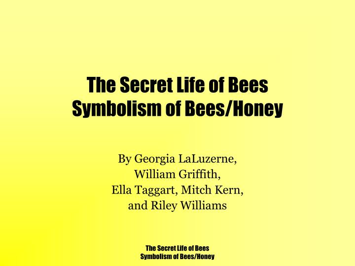 the secret life of bees symbolism of bees honey n.