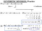 synthetic division practice