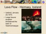 lava flow heimaey iceland