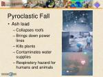 pyroclastic fall
